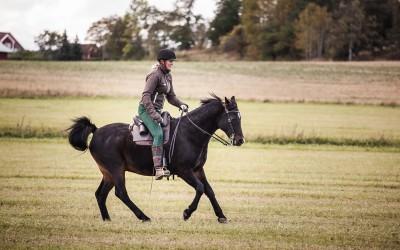 Camilla galopperar på Excell. 7 okt 2015.