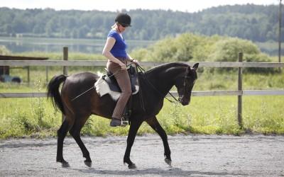Camilla tränar Excell. 14 juli 2015.