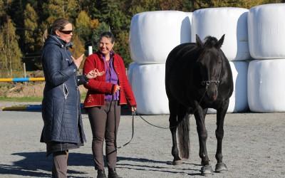 Ar-kurs 11 okt 2015. Camilla undervisar Kikki och Flisan.